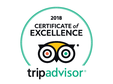 Trip Advisor - 2018 Certificate of Excellence